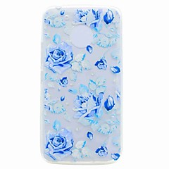 For Motorola G5 G5 Plus Case Cover Translucent Pattern Back Cover Case Blue Rose Soft TPU Case