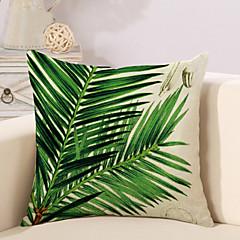 1 szt Cotton / Linen Pokrywa Pillow Poszewka na poduszkę,Liście drzew / Nowość DrukowanyVintage Na co dzień Retro Tradycyjny / Classic