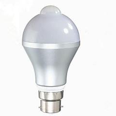5W E26/E27 B22 Ampoules LED Intelligentes G60 10 diodes électroluminescentes SMD 5630 Capteur infrarouge Capteur de corps humain Contrôle