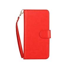 Недорогие Кейсы для iPhone 7-Кейс для Назначение Apple iPhone 7 Plus iPhone 7 Бумажник для карт Кошелек со стендом Флип Магнитный Чехол Сплошной цвет Твердый Кожа PU