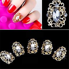 5 db elegáns stílus üreges gyémánt műköröm tapasz 3d köröm díszítés