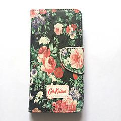 Недорогие Кейсы для iPhone-Кейс для Назначение iPhone 6s iPhone 6 Apple Бумажник для карт Кошелек со стендом Флип С узором Чехол Цветы Твердый Кожа PU для iPhone 6s