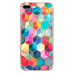 tanie Etui do iPhone 6 Plus-Kılıf Na Apple iPhone X iPhone 8 Wzór Czarne etui Geometryczny wzór Miękkie TPU na iPhone X iPhone 8 Plus iPhone 8 iPhone 7 Plus iPhone 7