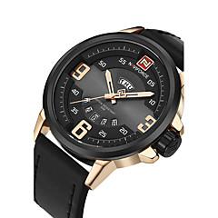 baratos Relógios de Homem-Homens Relógio Esportivo Relógio Militar Relógio de Moda Relógio de Pulso Relógio Casual Japanês Quartzo Calendário Mostrador Grande PU