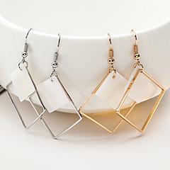 preiswerte Ohrringe-Damen Geometrisch Tropfen-Ohrringe - Hülle Anhänger Stil Gold / Silber Für Weihnachts Geschenke Hochzeit Party