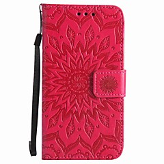 For Moto X play G4 play Sunflowers Embossed PU Phone Case G4 G2 X style Z Z force