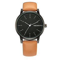 お買い得  大特価腕時計-REBIRTH 男性用 リストウォッチ クォーツ ブラック 耐水 クール ハンズ ファッション - ブラック / オレンジ オレンジ-ホワイト ブラック / ホワイト / ステンレス