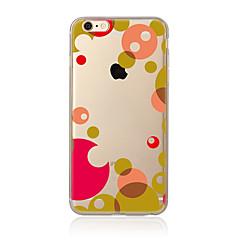 Недорогие Кейсы для iPhone 4s / 4-Кейс для Назначение Apple iPhone 7 Plus iPhone 7 Прозрачный С узором Кейс на заднюю панель Геометрический рисунок Мягкий ТПУ для iPhone 7