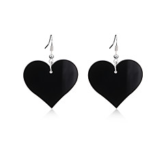 preiswerte Ohrringe-Damen Tropfen-Ohrringe - Herz Personalisiert, Luxus, Einzigartiges Design Weiß / Schwarz / Rot Für Einweihungsparty Party Herzliche Glückwünsche