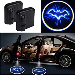2PCS Wireless Car Projection Light LED Door Welcome Ghost Shadow Light Logo No Drilling Required