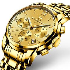 preiswerte Tolle Angebote auf Uhren-Herrn Armbanduhr Japanisch 30 m Kalender Nachts leuchtend Edelstahl Band Analog Charme Luxus Freizeit Gold - Gold Goldgelb Zwei jahr Batterielebensdauer