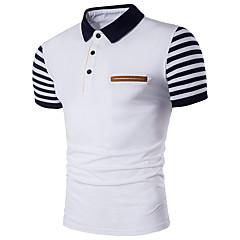hesapli Erkek Polo Tişörtleri-Erkek Pamuklu Gömlek Yaka İnce - Polo Çizgili Actif Büyük Bedenler / Kısa Kollu