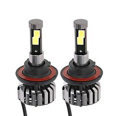 Недорогие Автомобильные фары-2pcs H13 Автомобиль Лампы 40W 4000lm Светодиодная лампа Налобный фонарь For Универсальный