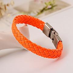preiswerte Armbänder-Herrn Lederarmbänder - Leder Natur, Modisch Armbänder Orange / Rot / Blau Für Besondere Anlässe Geschenk Sport