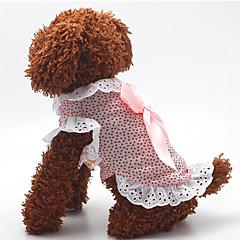 Hund Kjoler Hundetøj Afslappet/Hverdag Mode Polka Prikker Blå Lys pink Kostume For kæledyr