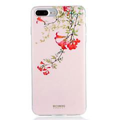 Для яблока iphone 7 7plus чехол чехол шаблон задняя крышка чехол цветок мягкий tpu 6s плюс 6 плюс 6s 6
