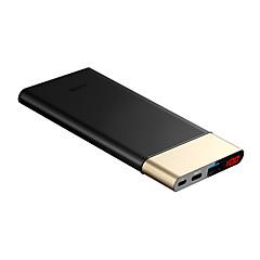 10000mAh banco do poder de bateria externa 5 Carregador de bateria com cabo Output Múltiplo QC 3.0 LED
