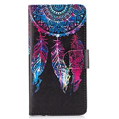 Недорогие Чехлы и кейсы для Galaxy Note 5-Кейс для Назначение SSamsung Galaxy Бумажник для карт Кошелек со стендом Флип Чехол Ловец снов Твердый Кожа PU для Note 5