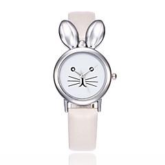 preiswerte Tolle Angebote auf Uhren-Damen Quartz Armbanduhr Chinesisch Armbanduhren für den Alltag PU Band Kreativ Einzigartige kreative Uhr Elegant Modisch Schwarz Weiß Rot