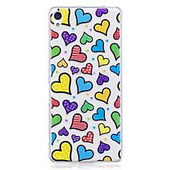 Case for Sony xperia m2 xa tok burkolat szerelmi minta festett nagy behatolás tpu anyag imd folyamat lágy tok telefonos tok Sony Xperia xz