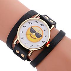voordelige Bekijk deals-Dames Kwarts Armbandhorloge Sporthorloge Leer Band Amulet Luxe Creatief Informeel Uniek creatief horloge Elegant Modieus Cool Zwart Wit