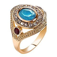 preiswerte Ringe-Damen Kristall Statement-Ring Ring - Harz, Strass Erklärung, Personalisiert, Luxus 7 / 8 / 9 / 10 Rot / Grün / Blau Für Weihnachten Weihnachts Geschenke Hochzeit