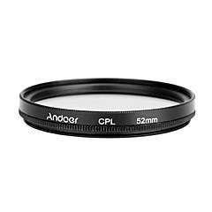 Andoer 52mm digital delgado polarizador circular del polarizador del cpl que polariza el filtro de cristal para la lente de cámara del