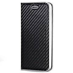 Til iPhone X iPhone 8 Etuier Kortholder Magnetisk Heldækkende Etui Helfarve Hårdt Karbonfiber for Apple iPhone X iPhone 8 Plus iPhone 8
