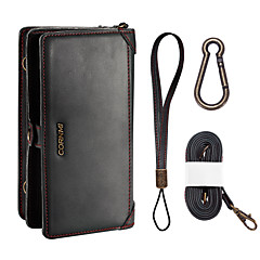Недорогие Кейсы для iPhone 6 Plus-Назначение Чехлы панели Кошелек Бумажник для карт Защита от удара со стендом Чехол Кейс для Сплошной цвет Мягкий Искусственная кожа для