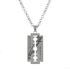 Муж. Жен. Ожерелья с подвесками Бижутерия В форме квадрата Геометрической формы Сплав Круглый дизайн Прочный Кроссовер Панк Хип-хоп Rock