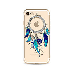 Недорогие Кейсы для iPhone 4s / 4-Кейс для Назначение Apple iPhone X iPhone 8 Plus Прозрачный С узором Кейс на заднюю панель Ловец снов Мягкий ТПУ для iPhone X iPhone 8