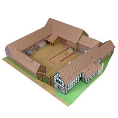 رخيصةأون -مجموعة اصنع بنفسك قطع تركيب3D نموذج الورق ألعاب بناء مشهور معمارية 3D اصنع بنفسك محاكاة غير محدد للجنسين قطع