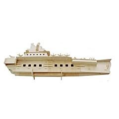 voordelige -3D-puzzels Legpuzzel Modelbouwsets Vliegdekschip Speeltjes Oorlogsschip Vliegdekschip Schip 3D Simulatie Puinen Niet gespecificeerd Stuks