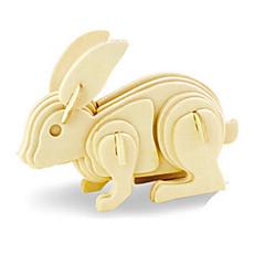 رخيصةأون -قطع تركيب3D تركيب النماذج الخشبية Rabbit ديناصور طيارة اصنع بنفسك خشبي خشب كلاسيكي للأطفال للجنسين هدية