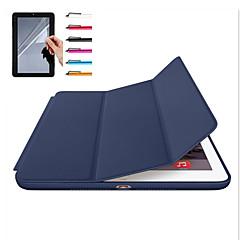 voordelige Nieuw Binnengekomen-hoesje Voor Apple iPad Mini 4 iPad Mini 3/2/1 iPad 4/3/2 iPad Air 2 iPad Air Magnetisch Auto Slapen/Ontwaken Volledig hoesje Effen Kleur