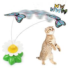 لعبة للقطة ألعاب الحيوانات الأليفة مضايقات فراشة بلاستيك للحيوانات الأليفة