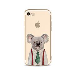 Недорогие Кейсы для iPhone 4s / 4-Кейс для Назначение Apple iPhone X / iPhone 8 Plus Прозрачный / С узором Кейс на заднюю панель Животное / Мультипликация Мягкий ТПУ для iPhone X / iPhone 8 Pluss / iPhone 8