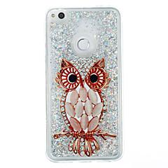 Til huawei p9 lite p8 lite case cover ugle mønster flash pulver quicksand tpu materiale telefon taske p8 lite (2017)
