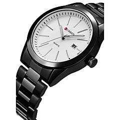 preiswerte Tolle Angebote auf Uhren-CURREN Herrn Sportuhr Armbanduhr Quartz Kalender Kreativ Cool Edelstahl Band Analog Luxus Freizeit Modisch Schwarz - Weiß Schwarz