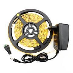 preiswerte LED Lichtstreifen-5m Flexible LED-Leuchtstreifen 300 LEDs 3528 SMD Warmes Weiß / Weiß Schneidbar / Selbstklebend 12 V 1pc