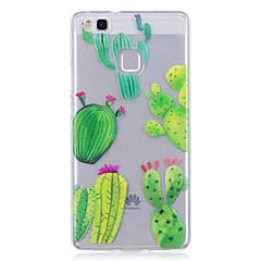 Hoesje voor huawei p10 lite p10 telefoon hoesje tpu materiaal imd proces cactus patroon hoesje telefoon hoesje 8 p9 lite p8 lite y6 ii y5