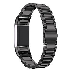 Fitbit Charge 2 Stainless Steel Replacement Accessory Band for fitbit Charge 2 -black