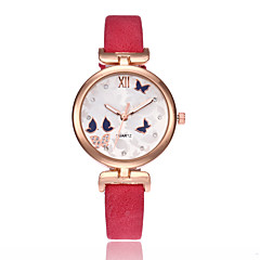 Butterfly Print Simple Women Watches Rhinestone Slim Leather Strap Minimalist Quartz Watch Gorgeous Ladies Wrist Watc