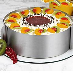 halpa -Bakeware-työkalut Ruostumaton teräs / synteettinen / Teräs Multi-function / Tarttumaton / Leivonta Tool For Keittoastiat / for Cake Pyöreä kakku Muotit 1kpl