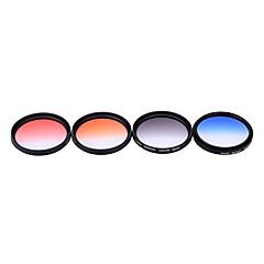 Andoer professionele 52mm gnd afgestudeerde filter set gnd4 (0.6) grijsblauw oranje rood afgestudeerde neutrale dichtheid filter