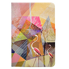 Недорогие Чехлы и кейсы для Galaxy Tab 4 10.1-Кейс для Назначение SSamsung Galaxy Вкладка 9,7 Вкладка 8,0 Бумажник для карт со стендом Флип Магнитный С узором Чехол Фламинго Твердый