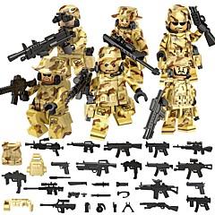 저렴한 -DILONG 조립식 블럭 블럭 미니피규어 교육용 장난감 전사 아동용 남여 공용 선물