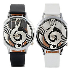 Women's Fashion Watch Casual Watch Quartz Leather Band Casual Black White