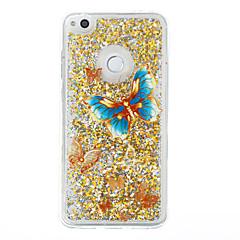 Til huawei p9 lite p8 lite case cover sommerfugl mønster flash pulver quicksand tpu materiale telefon taske p8 lite (2017)