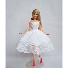 abordables Ropa para Barbies-Fiesta / Noche Vestidos por Muñeca Barbie  Poliéster Vestido por Chica de muñeca de juguete